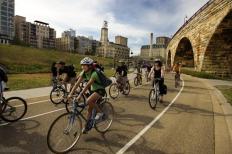 Biking on the Midtown Greenway